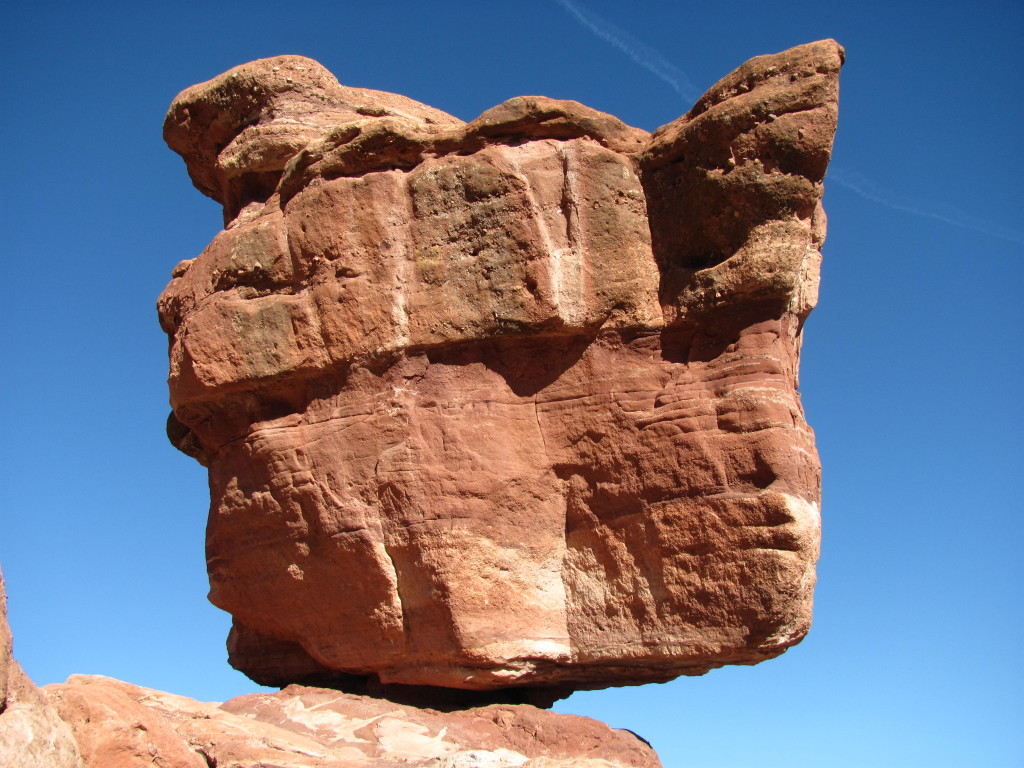 Balanced Rock at Garden of the Gods in Colorado Springs