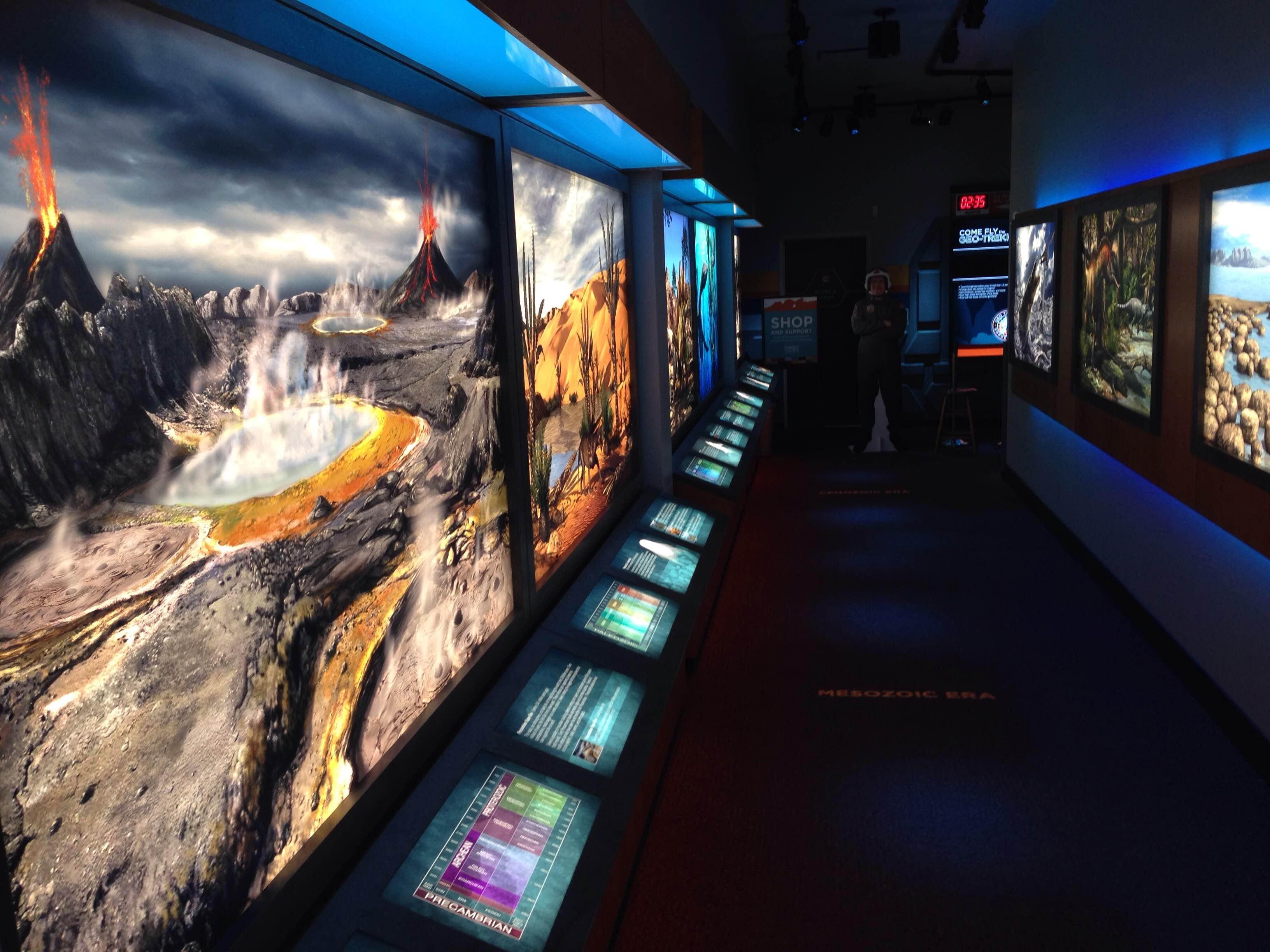 Garden of the Gods Visitors Center GeoTrekker Time Tunnel