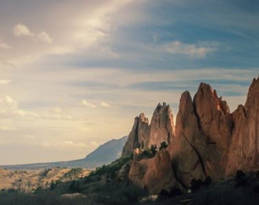 Central Garden of the Gods looking towards the south