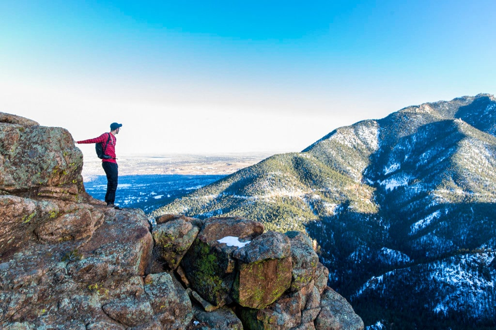 Colorado Springs hiking trails Mount Muscoco