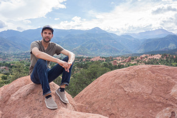 Robb's favorite spot at Garden of the Gods