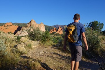 Hiking Niobrara Trail in Garden of the Gods Colorado