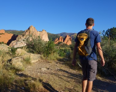 Hiking Niobrara Trail in Garden of the Gods Colorado