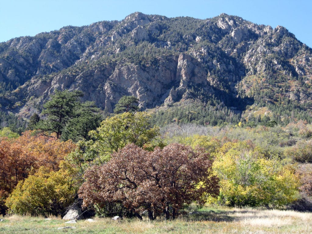 Cheyenne Mountain State Park offers tent and RV campsites.