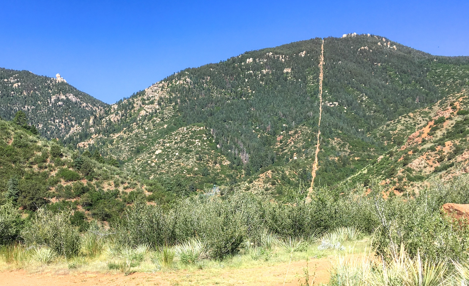 View Of Iron Mtn From Red Photo The Prez The Manitou Incline Intemann Trail