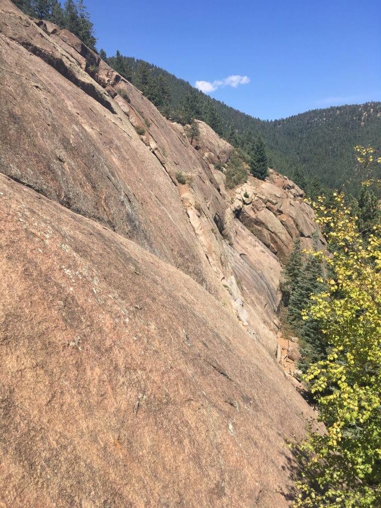 Helen Hunt Falls rock climbing