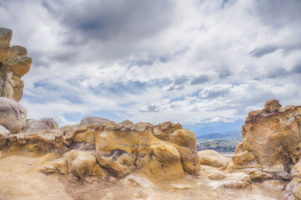 Pulpit rock and Pikes Peak
