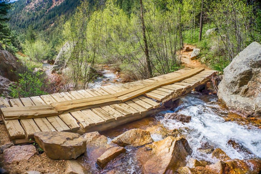 Seven Bridges hike near Helen Hunt Falls