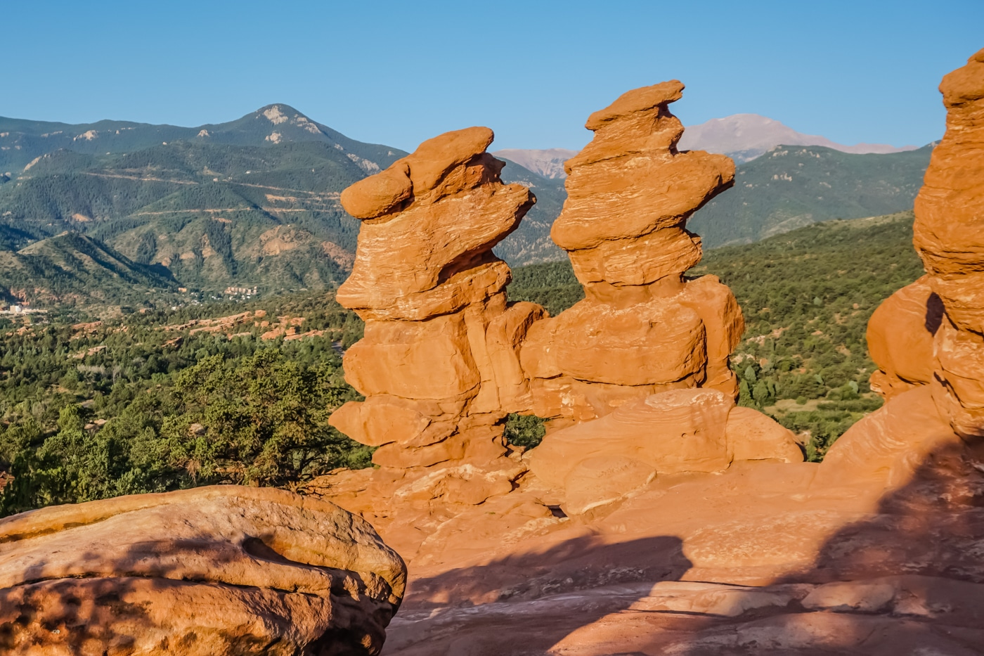 Siamese Twins At Garden Of The Gods Colorado