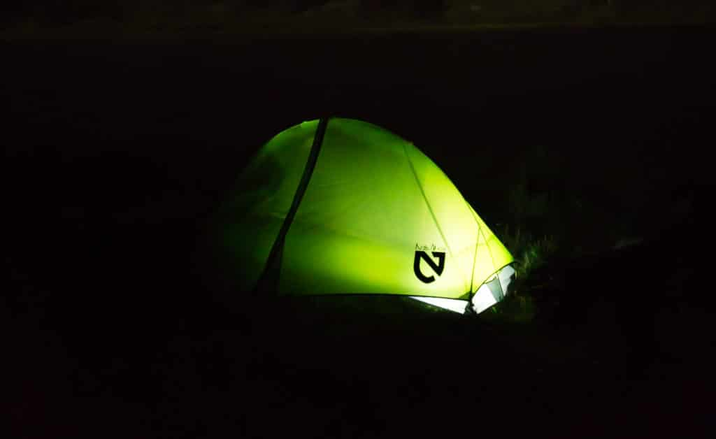 Tent camping Cheyenne Mountain