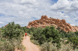 Brian Erickson trailrunning on the Scotsman Loop Trail at Garden of the Gods